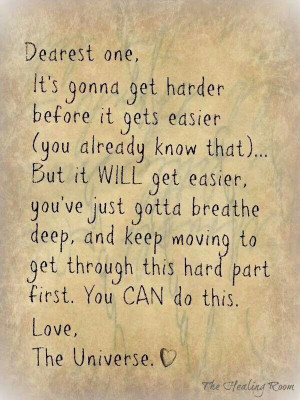 You'll get through it...