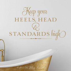 quote gold wall decal