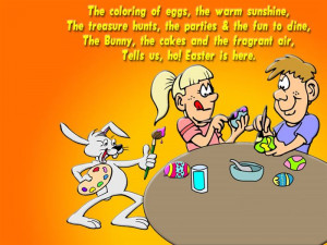 ... Bunny, The Cakes And The Fragrant Air, Tells Us, Ho! Easter Is Here