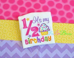 happy happy 1 2 birthday it s my half birthday baby shower gift happy ...