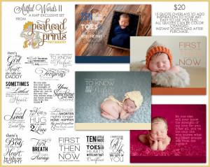 ... Artful Words Text Overlays! | Seattle Washington Newborn Photographer