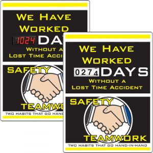... > Scoreboards > Motivational Safety Scoreboards - Safety Teamwork