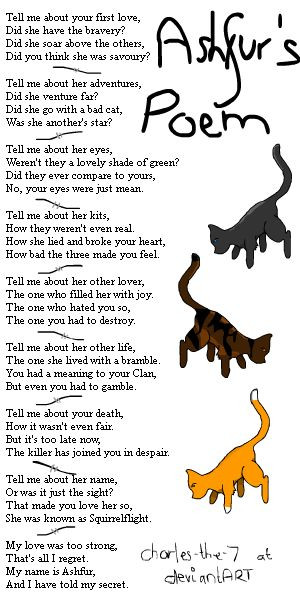 Ashfur's Poem- Warrior Cats by charles-the-7