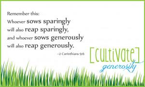 Generosity Bible verse