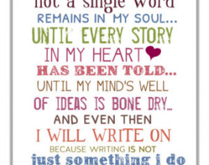 Write On Typography Print - Motivational And Inspirational Writing ...
