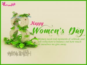 Happy Women's Day Wishes Quote Picture 8 March Photo