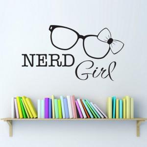 Girl Nerd Glasses Wall Decal Nerd Glasses by StephenEdwardGraphic, $16 ...