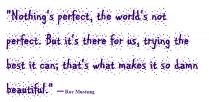 Roy Mustang Quote by Purpal32