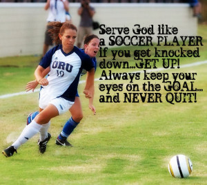 Just a little bragging about my daughter. She plays college soccer ...