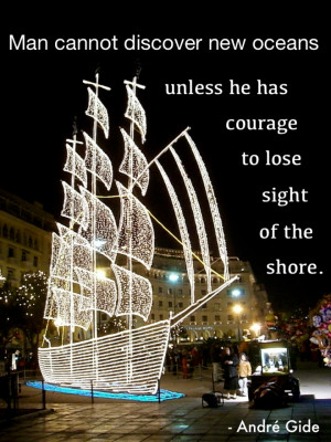 ... shore. -André Gide. (Christmas decorations in Thessaloniki, Greece
