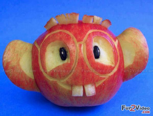 Funny Apple Fruit Art Which is Humorous and This Funny Fruit Smiley ...