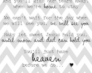 You'll Just Have Heaven Before We Do (miscarriage remembrance print ...