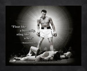 Framed Muhammad Ali Boxing Pro Quotes