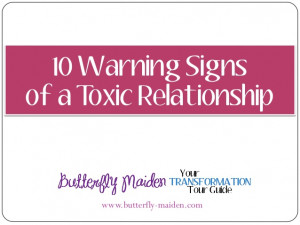10 Warning Signs of a Toxic Relationship