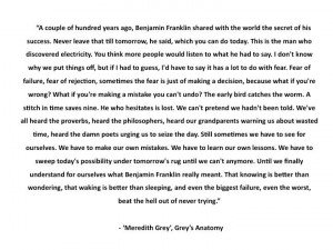 Meredith Grey is so wise ;)