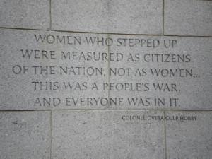 Women World War 2 Memorial Quote