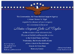 Air Force Retirement Ceremony Invitations