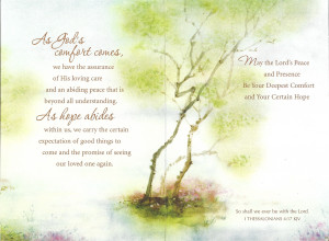 ... Inside Bereavement Cards Condolences Quotes Funeral Flower Messages