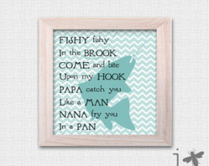 Fishy Fishy Nursery Rhyme - Fine Art Print - Perfect addition to young ...