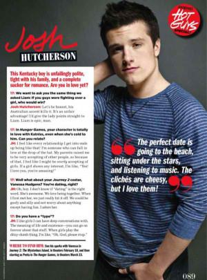 Hunger Games Actors Josh Hutcherson and Liam Hemsworth in 17 Magazine