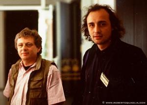 Norman Spinrad and Roberto Quaglia at SF Eurocon 1992 Freudenstadt