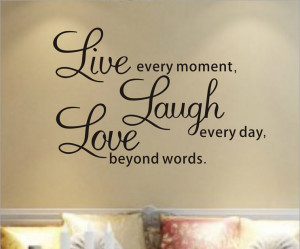Free-Shipping-Live-Every-Moment-Inspirational-Quotes-Living-Room-Wall ...