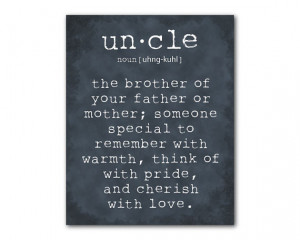 Wall Art - An uncle is a person - Uncle Quote Inspiration - Typography ...