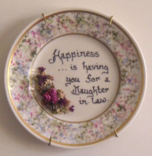 Daughter-in law Decorative Plate