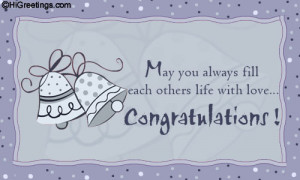 ... Congratulations - As The Bells Chime... greeting card to your loved