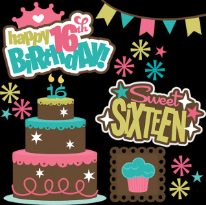 Happy 16th Birthday SVG files for cutting machines teen svg files teen ...