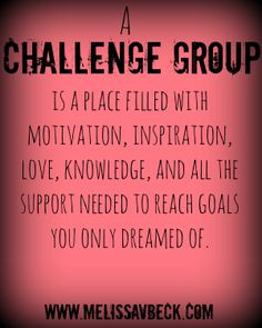 running challenge groups are my passion. It's all about support for me ...