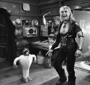 Ricardo Montalbán with a doll with the face of his Fantasy Island co ...