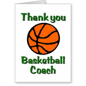 Basketball Coach Thank You...