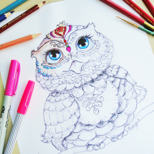 Get this Free Printable Owl Coloring Page from Hattifant.