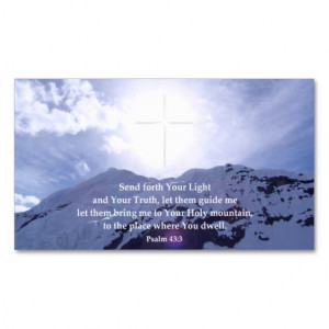 Christian Business Cards Psalm 23 Inspirational Quotes Wallet Picture
