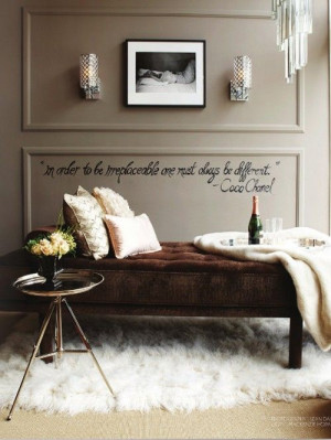 Love the chaise and quote!