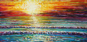 HQ Wallpapers Plus provides different size of Beach Sunset Painting ...