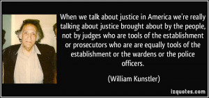 we talk about justice in America we're really talking about justice ...
