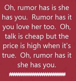 Reba McEntire - Rumor Has It - song lyrics, song quotes, songs, music ...
