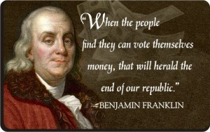 Ben Franklin Patriotic Quote Magnet - Money Quote