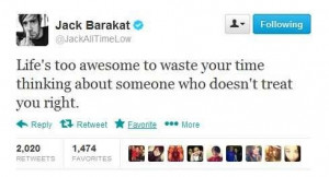 ATL CHALLENGE: DAY THIRTEEN - FAVE JACK BARAKAT'S QUOTE