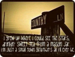 just a small town girl...