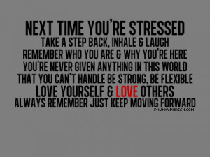 Next Time You're Stressed take a Step Back ~ Confidence Quote