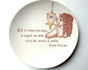 ... Jane Austen Quote, Emma, Romantic quote, Blue bird in Cage, Ring Dish