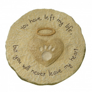 Pet Memorial Heart Halo Stepping Stone