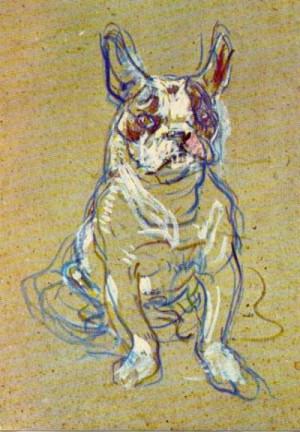 Henri de Toulouse Lautrec - Bulldog I love this little unfinished ...
