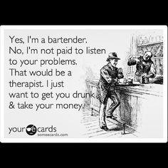 Bartender Funny