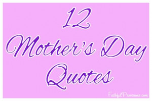 Mother's Day Quote Graphic