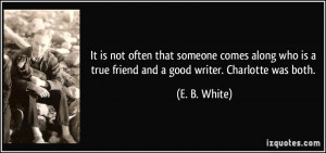 is not often that someone comes along who is a true friend and a good ...
