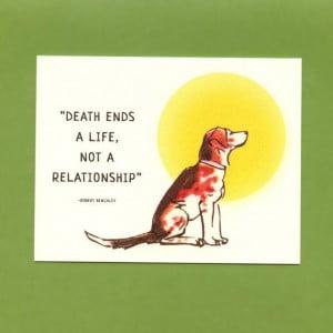 LOSS Of A DOG SYMPATHY Card by seasandpeas on Etsy, $3.75